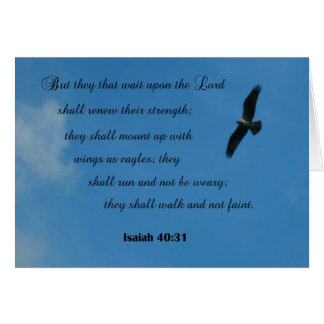 Isaiah 40:31 But they that wait upon the Lord... Greeting Cards