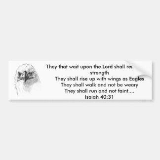 Isaiah 40:31 car bumper sticker