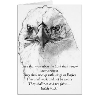 Isaiah 40:31 stationery note card