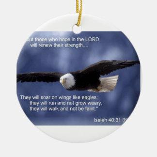 Isaiah 40:31 ceramic ornament
