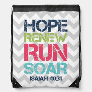 Isaiah 40:31 - drawstring backpack