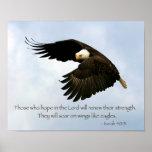 Isaiah 40:31 Eagle Poster