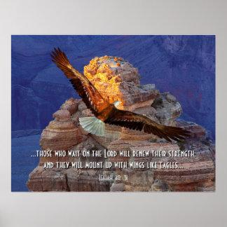 Isaiah 40: 31 Eagle Scripture Poster Print
