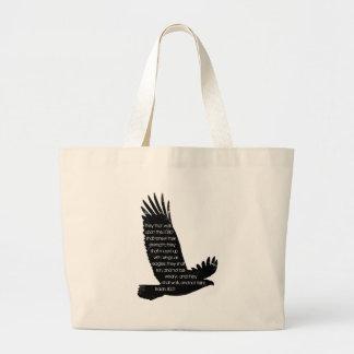 Isaiah 40:31 large tote bag