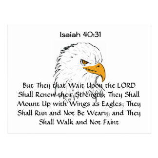 Isaiah 40:31  Mount Up on Eagle Wings Postcard