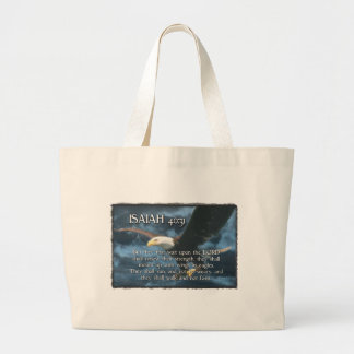 ISAIAH 40:31  Mount up with wings as EAGLES Canvas Bags