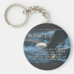 ISAIAH 40:31  Mount up with wings as EAGLES Keychains