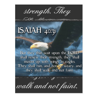 ISAIAH 40:31  Mount up with wings as EAGLES Postcard
