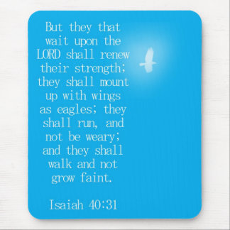 Isaiah 40:31 mouse pad