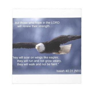 Isaiah 40:31 notepad