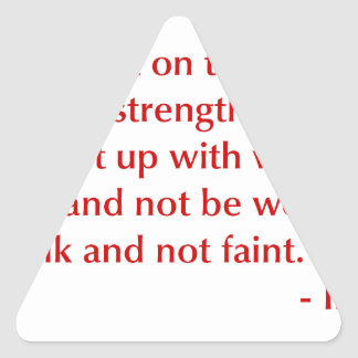 Isaiah-40-31-opt-burg.png Triangle Sticker