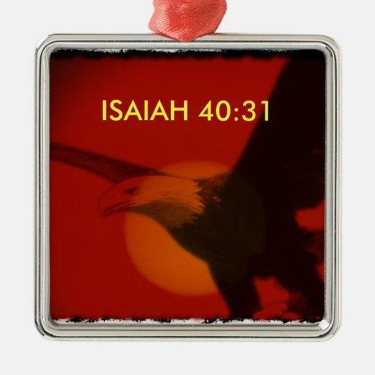 ISAIAH 40:31 ORNAMENT - EAGLE WINGS