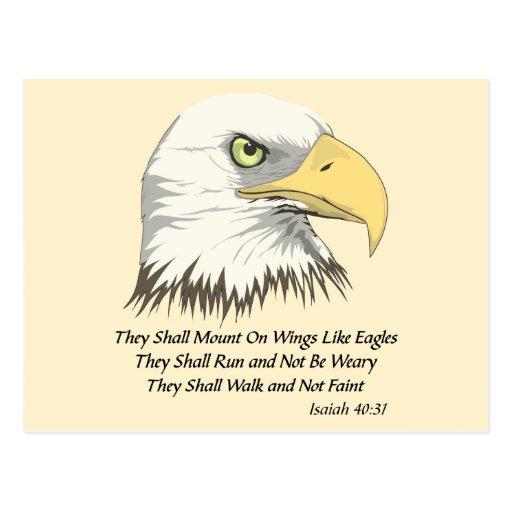 Isaiah 40:31 postcard