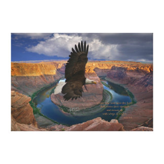 Isaiah 40:31 Scripture Wings as Eagles Print Canvas Print