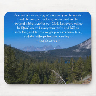 Isaiah 40:3-4 Mammoth Lakes Mousepad