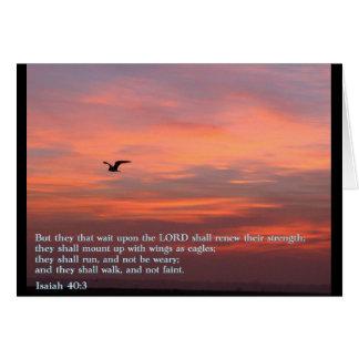 Isaiah 40:3 Sunrise Greeting Card