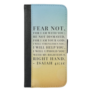 Isaiah 41:10 Bible Quote iPhone 6/6s Plus Wallet Case