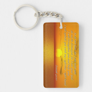 Isaiah 41:10 Bible quote Key Chain Rectangle Acrylic Key Chains