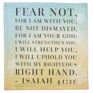 Isaiah 41:10 Bible Quote Napkin