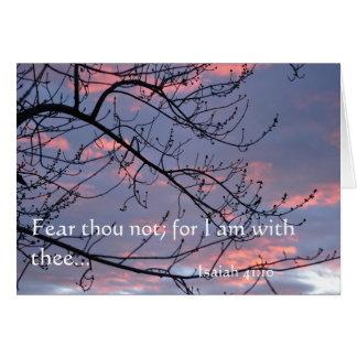 Isaiah 41:10 Bible Verse Card