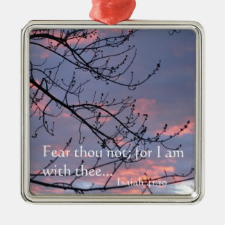 Isaiah 41:10 Bible Verse Metal Ornament
