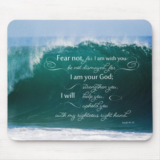 Isaiah 41 10 Bible Verse Mousepad