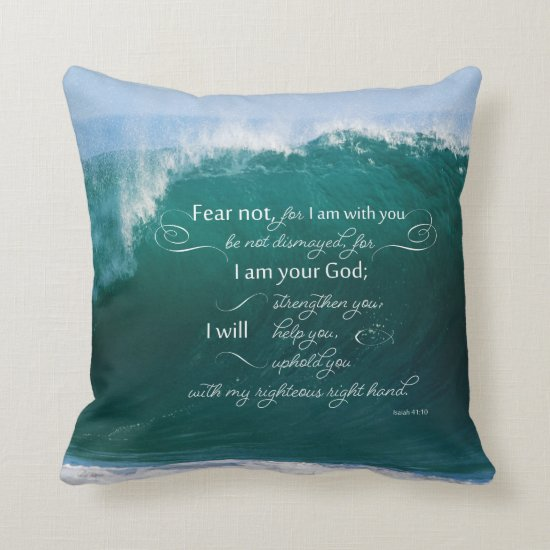 Isaiah 41 10 Bible Verse Pillow