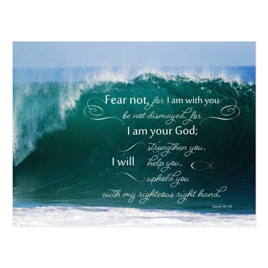 Isaiah 41 10 Bible Verse Postcards