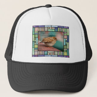 Isaiah 41:10 Bible Verse With Bird Stained Glass Trucker Hat