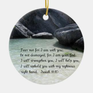 Isaiah 41:10 ceramic ornament