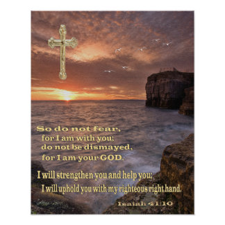 isaiah 41 10 christian poster poster