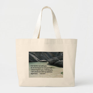 Isaiah 41:10 Fear not for I am with you... Jumbo Tote Bag