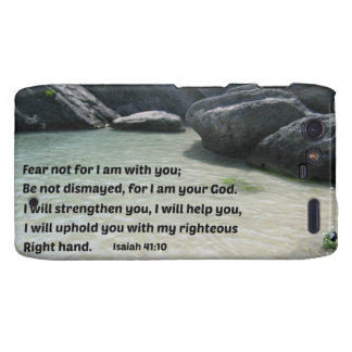 Isaiah 41:10 Fear not for I am with you... Droid RAZR Case