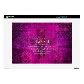 """Isaiah 41:10 Fear not, for I am with you Decal For 15"""" Laptop"""