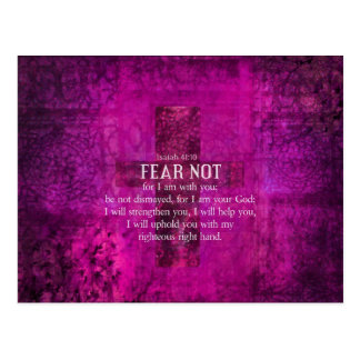 Isaiah 41:10 Fear not, for I am with you Postcard