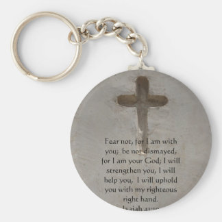 Isaiah 41:10 Inspirational Bible Verse Basic Round Button Keychain