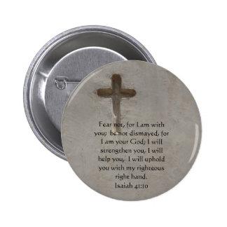 Isaiah 41:10 Inspirational Bible Verse Buttons
