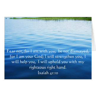 Isaiah 41:10 Inspirational Bible Verse Card