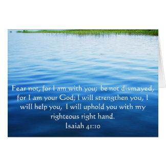 Isaiah 41:10 Inspirational Bible Verse Card