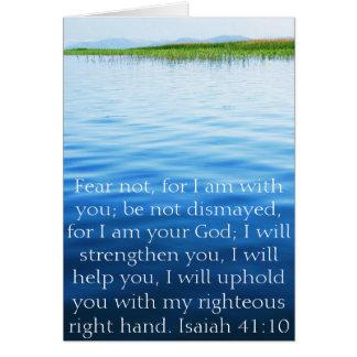 Isaiah 41:10 Inspirational Bible Verse Greeting Card