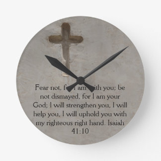 Isaiah 41:10 Inspirational Bible Verse Round Clocks
