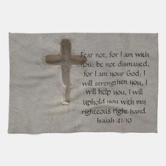 Isaiah 41:10 Inspirational Bible Verse Kitchen Towel