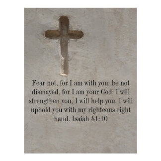 Isaiah 41:10 Inspirational Bible Verse Custom Letterhead