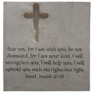 Isaiah 41:10 Inspirational Bible Verse Napkin