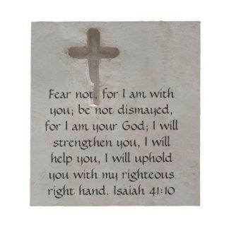 Isaiah 41:10 Inspirational Bible Verse Note Pad