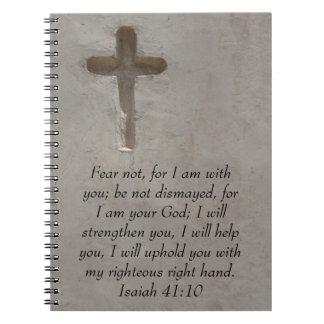 Isaiah 41:10 Inspirational Bible Verse Note Book