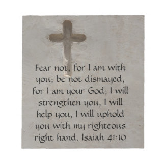 Isaiah 41:10 Inspirational Bible Verse Notepad