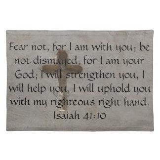 Isaiah 41:10 Inspirational Bible Verse Place Mats