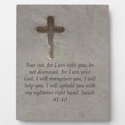 Isaiah 41:10 Inspirational Bible Verse Plaque
