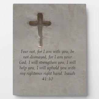 Isaiah 41:10 Inspirational Bible Verse Photo Plaque